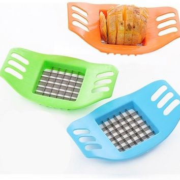 Garlic French Fry Potato Chip Cut Cutter Vegetable Fruit Slicer Chopper Chipper Blade Peelers Zesters Kitchen Tools Dicer Knife