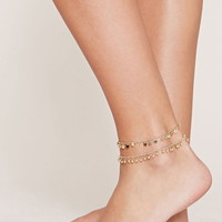 Disc Anklet Set | Forever 21 - 1000177359