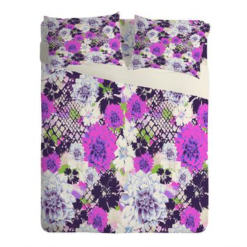 Aimee St Hill Croc And Flowers Blue Sheet Set Lightweight