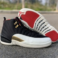 "Air Jordan 12 Retro ""CNY"" Sneakers With Shoes Box"