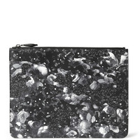Givenchy - Camo Flower-Print Leather Pouch | MR PORTER