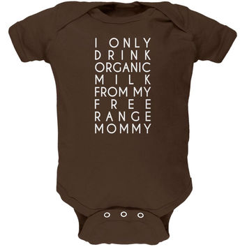 Organic Milk Free Range Mommy Brown Soft Baby One Piece