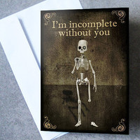 Any 3 Greeting Cards of your choice,skull,skeleton,gothic,I love you card,gift,zombie,art,illustration