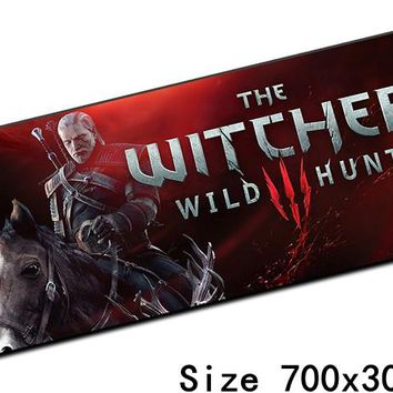 witcher 3 mousepad best 70x30cm gaming mouse pad gamer mouse mat locked edge pad keyboard computer padmouse laptop play mats