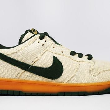 Nike Dunk Low Pro Sb Green Hemp Jersey Gold Bonsai