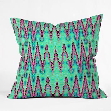 Ingrid Padilla Bohemian Romantic Blue Throw Pillow
