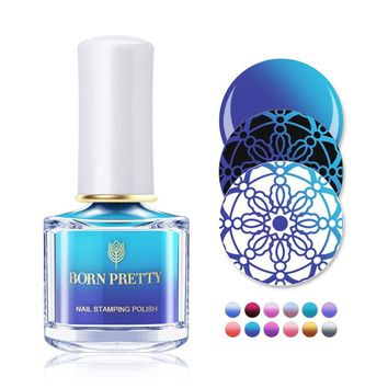 BORN PRETTY 6ml Thermal Stamping Nail Polish Temperature Color Changing Nail Polish DIY Plate Printing Oil Nail Art Lacquer