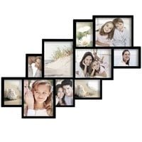 Adeco Decorative Black Wood Wall Hanging Picture Frame Collage with 10 Clustered 4-8x10-inch, 5-5x7-inch, 1-4x6-inch Openings | Overstock.com Shopping - The Best Deals on Photo Frames & Albums