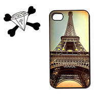 iPhone Case 4 4s Cover Vintage Paris Eiffel tower photo - also for iphone 5, ipod touch, samsung galaxy S3