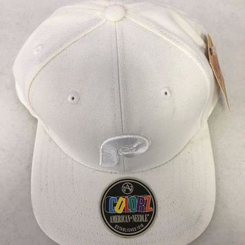 DCCKIHN AMERICAN NEEDLE PHILADELPHIA PHILLIES RETRO WHITE SNAPBACK HAT SHIPPING