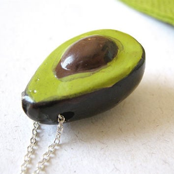 Avocado Necklace on Sterling Silver