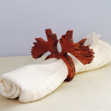 Moose Antler Napkin Rings