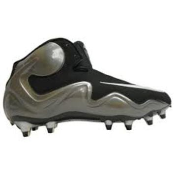 Nike Zoom Flyposite TD Men's Football / Lacrosse Cleat (Black/Chrome-Charcoal)