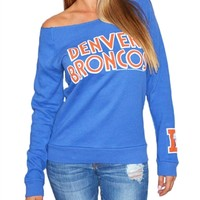 Denver Broncos Off Shoulder Womens Sweatshirt | SportyThreads.com