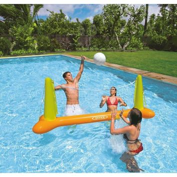 Pool Volleyball Game for Ages 6+ Floating Swimming Fun Net & Ball
