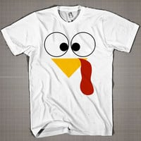 Funny Face Thanks Giving  Mens and Women T-Shirt Available Color Black And White