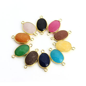 Best druzy stones for jewelry making products on wanelo 2pc natural stone necklace charms pendant druzy quartz crystal agate jade bracelet necklace connector diy fashion mozeypictures Gallery