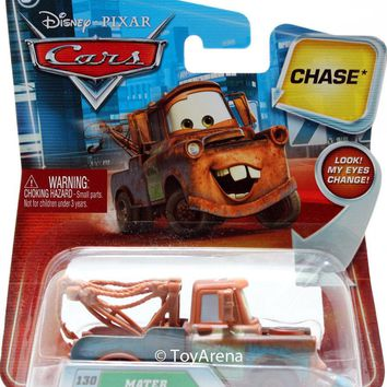 Disney / Pixar CARS 1:55 Die Cast Mater with Oil Can Chase #130 Lenticular Eyes!