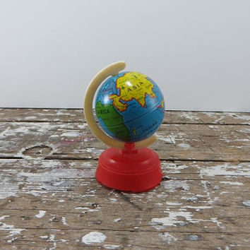 Sterling Plastic Globe Pencil Sharpener Metal Globe Schoolhouse Decor Office Decor