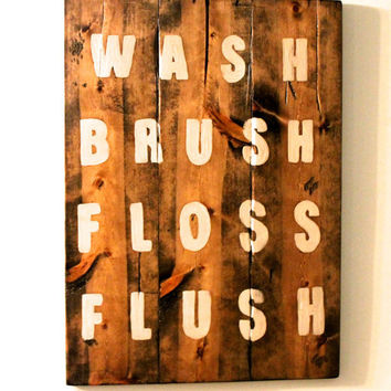 Bathroom Sign  Custom quote sign  wooden sign  wall art  wall decor. Best Bathroom Signs For Home Products on Wanelo