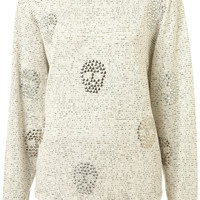 Crystal Skull Textured Sweat - Jersey Tops - Clothing - Topshop USA