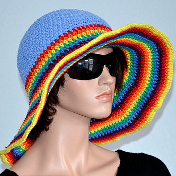 Crochet Summer Hat/ Handmade Sun Hat/ Cotton Beach Hat