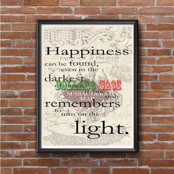 happiness quote harry potter Photo Poster