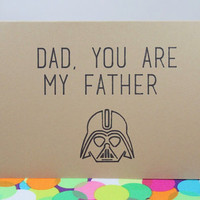 Funny Father's day card: Dad you are my father. Star wars. Handmade