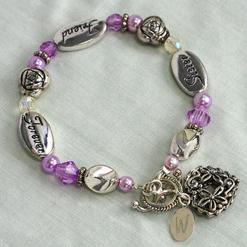 Sister Friend Forever Personalized bracelet