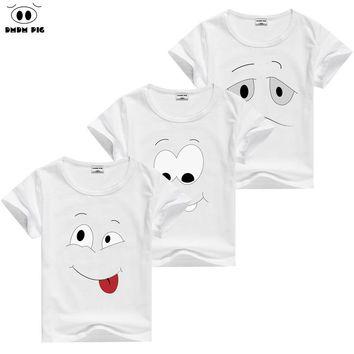 DMDM PIG Baby Boy Clothes Toddler Girl Clothing T Shirts Funny Kids Tshirt Children's T-Shirts For Girls Boys Tops Size 7 8 9 10