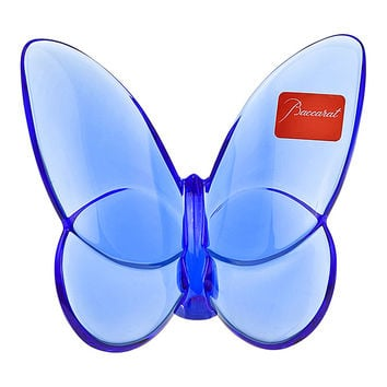 Baccarat Crystal Lucky Butterfly Sapphire 2102546