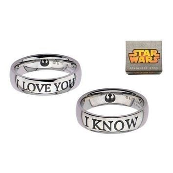 "Star Wars ""I Love You/I Know"" Ring Set"