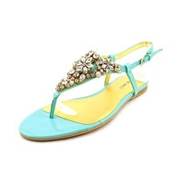Nine West Seahorse Womens Size 6 Blue Slingback Sandals Shoes
