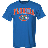 Men's New Agenda Royal Florida Gators Arch Over Logo T-Shirt