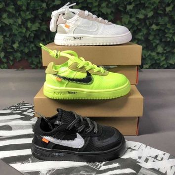 Off-White x Nike Air Force 1 Low Toddler Kid Shoes Child Sneakers