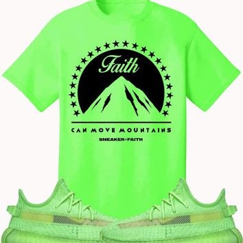 Adidas Yeezy 350 Boost Glow Volt Sneaker Tees Shirt to Match - MOVE MOUNTAINS