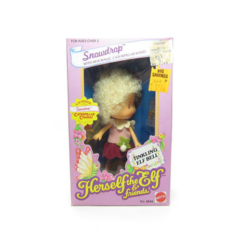 Snowdrop Doll MIB Factory Sealed NRFB Herself the Elf Toy with Charm Bracelet, Comb, Wand, Dress, Shoes