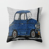 Cuba Car Throw Pillow by Kathleen Sartoris