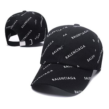 Black BALENCIAGA Golf Baseball Cap Hat