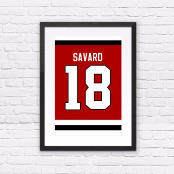 Denis Savard Number 18 Jersey
