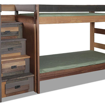 Morgan Creek Twin over Twin Stairway Bunk Bed
