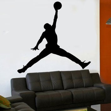 pretty nice a3eb5 541bd Michael Jordan Jumpman 6 foot x 6 foot XL vinyl wall decal room sport art  sticker