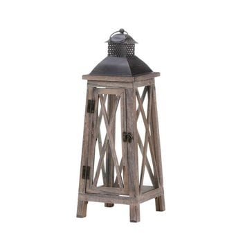 Watchtower Wood Candle Lantern