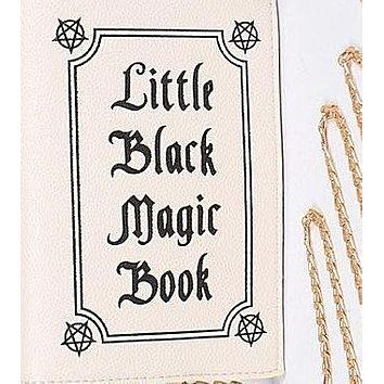 Little Black Magic Book Clutch You Will Love in White