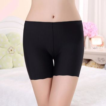 Women Sexy&Casual Seamless Underwear Lace Silk Three-Point Safety Pants Anti Emptied Underpants Underwear
