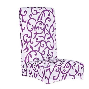 Super Fit Stretch Removable Washable Short Dining Chair Cover Protector Seat Slipcover for Hotel / Dining Room / Ceremony