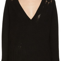 Black Deep V Sweater