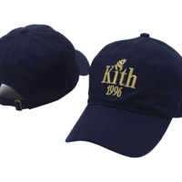 Retro Navy Blue Kith 1996 Embroidered Adjustable Outdoor Baseball Cap Hats
