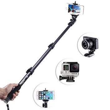 Waloo Waterproof Universal Extendable Monopod Selfie-Stick Smartphone Pouch with Detachable Bluetooth Remote Shutter for All iPhones & Samsung Galaxy Phones