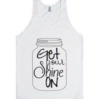 Get Your Shine On-Unisex White Tank